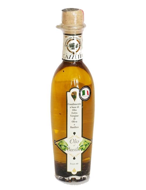 olio extravergine di oliva al basilico